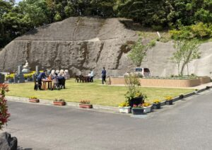 樹木葬見学会開始の様子